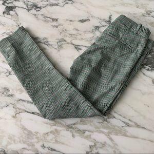H&M Green Plaid Dress Pants